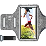 JETech Cell Phone Armband Case for Phone Up to 6.2 inch, Adjustable Band, w/Key Holder and Card Slot, for Running, Walking, H