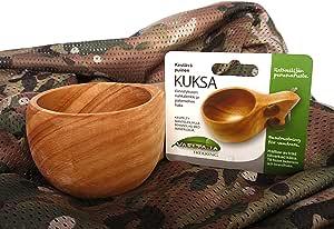 KUKSA  北欧 木製 ハンドメイド マグカップ & 迷彩 ミリタリー メッシュ スカーフ セット フィンランド 雑貨 通販