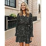 The Drop Women's Black/Tan Polka-dot Tiered V-neck Mini Dress by @fashion_jackson