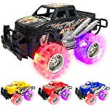 ArtCreativity Light Up Monster Truck Set for Boys and Girls Set Includes 4, 6 Inch Monster Trucks with Beautiful Flashing LED