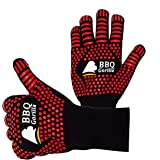 BBQ Gorilla - BBQ Gloves - Heat Resistant for Barbecue Grill Or Oven - for Cooking and Grilling - Silicon Design for Anti-Sli