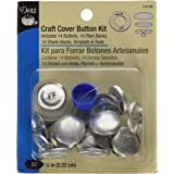 Dritz 114-30 Craft Cover Button, Silver, Size 36 (7/8-Inch)