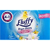 Fluffy Dryer Sheets Field Flowers, 40 Pack