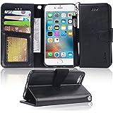 【Amazon限定ブランド】iPhone 6s ケース 手帳型 iPhone 6 ケース 手帳 - スマホケース iPhone6s/ iPhone6 「ストラップ付き 横置き機能 カードポケット付き」 Arae アイフォン6s/ 6 適応用 財布型