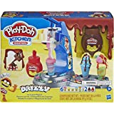 Play-Doh - Kitchen Creations - Drizzy Ice Cream Playset - Inc Drizzle compound & 6 tubs of Non toxic PlayDoh Dough - sensory