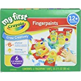 Crayola; My First Crayola; Fingerpaint Kit; Art Tools; 6 Different Colored Tubes of Paint; Washable