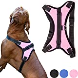 Zenify Pets Dog Harness - Chest Control Grab Adjustable Reflective for Puppy Small Dogs (Pink, Small)