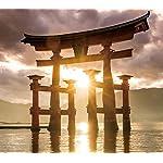 世界遺産 XFVGA(480×854)壁紙 厳島神社の大鳥居