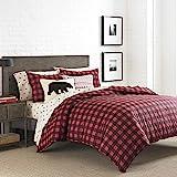 Eddie Bauer 210706 Mountain Plaid Duvet Cover Set, Twin, Scarlet Red