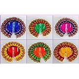 eSplanade Ladoo Gopal Poshak | God Dress | Bhagwaan Ki Poshaak | Dev Vastra - (Set of 6) - for Size 0 (Small Size) Laddu Gopa
