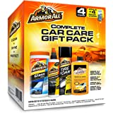 Armor All Car Wash and Cleaner Kit (4 Items) - 2pc Glass Wipes & Protectant with Wax & Wash Concentrate and Tire Shine Foam,