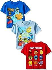 Sesame Street Toddler Boys 3 Pack T-Shirts