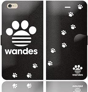 iPhone6SPlus iPhone6Plus 手帳型 ケース カバー WANDES ワンデス A ハート アニマル ワンポイント 面白い 犬 イヌ いぬ