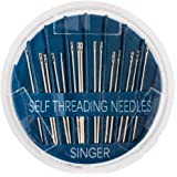 Singer Assorted Self Threading Hand Needles, 15-Count