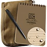 "Rite in the Rain Weatherproof 4"" x 6"" Top Spiral Notebook Kit: Tan CORDURA Fabric Cover, 4"" x 6"" Tan Notebook, and an Weather"