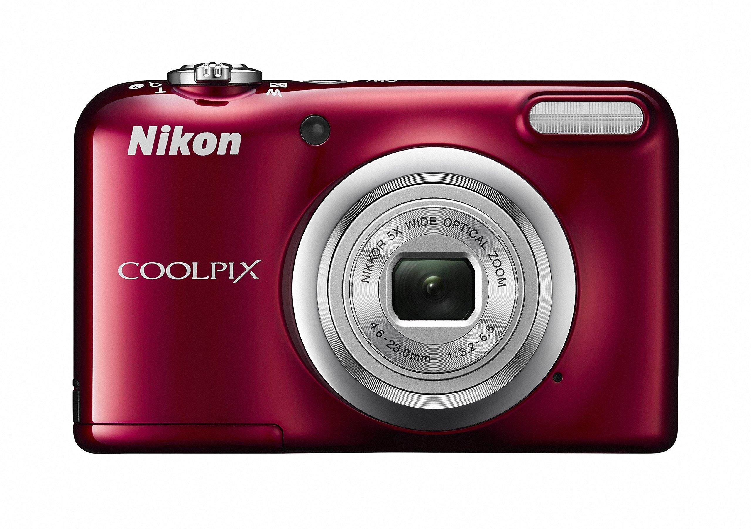 Nikon デジタルカメラ COOLPIX A10 レッド 光学5倍ズーム 1614万画素 乾電池タイプ