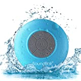 SoundBot SB510 HD Water Resistant Bluetooth 3.0 Shower Speaker, Handsfree Portable Speakerphone with Built-in Mic, 6hrs of Pl