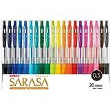 Zebra Gel Ballpoint Pen Sarasa Clip 0.5 Jj15-20ca 20 Color Set