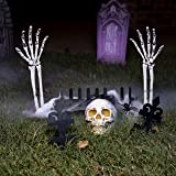 JOYIN Halloween Graveyard Stake Decoration, Halloween Scary Graveyard Yard Stake Prop for Yard Decoration Stakes, Outdoor Hal