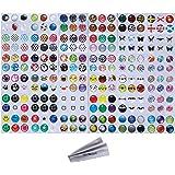 Wisdompro ホームボタン シール ボタンステッカー·プロテクター 216枚 iPhone 3GS 4 4s 5 5c 5s SE 6 6 Plus 6s 6s Plus iPod Touch 4/5/6/7 iPad 2/3/4 / Mini/Mini 2/3 / Air/Air 2 適用 パターン2