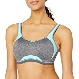 FREYA Women's Epic Underwire Crop Top Sports Bra with Molded Inner, Electric Black, 28D