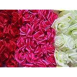 組み合わせが 選べる バラ 造花 直径 8センチ 花部分のみ 3色 50個 セット (タイプB)