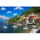 Lavievert 1000 Piece Jigsaw Puzzle Game for Adults and Kids - Lake Como, Italy