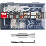 TOX Standard Assortment Plug & Play, 320 Pieces, with Wall Plugs + Screws, 01190101