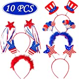 Moon Boat Patriotic Head Boppers Headband - Star/Uncle Sam Hat- Fourth/4th of July Party Accessories Favors Decorations