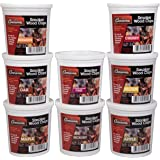 Camerons Wood Smoking Chips Variety Gift Set - Set of 8 Pints of Extra Fine Cut Sawdust - Perfect for Smoking Guns, Smokers,