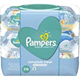 Pampers Baby Wipes Complete Clean Scented Pop-Top Pack, 216 count