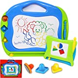 JOYIN 2 Magnetic Drawing Boards with Multi-Colours Scribble Erasable Doodle Sketch Magna Pad for Writing, Sketching, Travel S