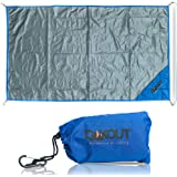 Ultralight Backpacking Tarp Ground Cloth - Pocket Blanket Waterproof - Compact Ground Sheet - Hiking Gear for 2 - Ideal for C