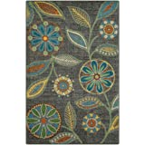 (0.6mx0.9m) - Accent Rug, Maples Rugs [Made in USA][Reggie Artwork Collection] 0.6m1.8m x 0.9m10 Non Slip Padded Small Throw