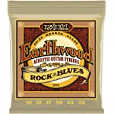 Ernie Ball Earthwood Rock and Blues 80/20 Bronze Acoustic Set with plain G.010 - .052