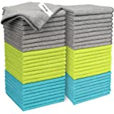 AIDEA Microfiber Cleaning Cloths Softer Highly Absorbent, Lint Free Streak Free for House, Kitchen, Car, Window Gifts(12in.x1