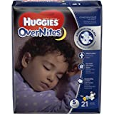 HUGGIES OverNites Diapers, Size 5, 21 Count, JUMBO PACK Overnight Diapers (Packaging May Vary)