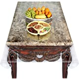 Super Clear Extra Heavy Duty Durable 100% Vinyl Tablecloth protector & Table cover Size 54 X 72 Inches Oblong
