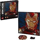 LEGO 31199 Art Marvel Studios Iron Man Collectors DIY Poster, Wall Décor, Multipart Canvas, Set for Adults