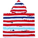 Stripe Kids Baby Hooded Bath/Beach/Pool Towel 100% Cotton