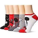 Disney Women's Classic 5-Pack No Show Socks