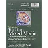 """Strathmore 400 Series Toned Blue Mixed Media Pad, 462-406, Steel Blue, 18""""x24"""""""