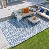 wikiwiki Reversible Outdoor Rug for Patio, Plastic Straw Mat, Indoor Area Rugs, Large Waterproof Carpet for Outdoor Decor, Ca