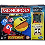 MONOPOLY - Arcade Pac-Man Board Game - Relive the 80's - Includes Electronic Banking & Arcade Unit - 2 to 4 Players - Family
