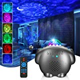 Star Projector, GRDE Night Light Projector 4 in 1 Galaxy Projector Ocean Wave Projector with Bluetooth Music Speaker for Baby