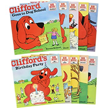 Scholastic Clifford's Big Red Box (10 Books) スカラスティック クリフォードズ ビッグ レッド ボックス (本10冊)