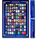 Amy and Umy Scratch Off Books Poster 100 Must Read of All Time Bucket List Large 16.5 x 23.4 inches - Wall Decor & Entertainm