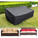 HIRALIY 82.6 Inch Outdoor Sofa Cover, Waterproof Patio Outdoor Couch Cover, 420D Heavy Duty Oxford Fabric Patio Loveseat Benc