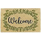 DII Spring/Summer Doormat, 18x30x0.5, Greenery Welcome