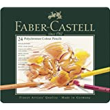 Faber-Castell Polychromos Colour Pencils, Tin of 24, (18-110024)